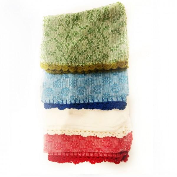 Ilocos abel - cotton hand towels with crochet edges
