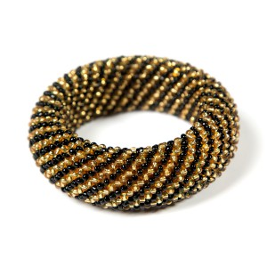 Subanen - Bangle black gold