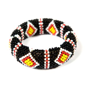 Subanen- Bangle11 blackred white yellow