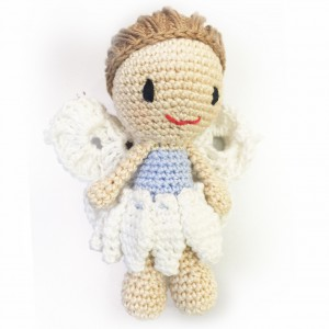 crochet angel - in blue
