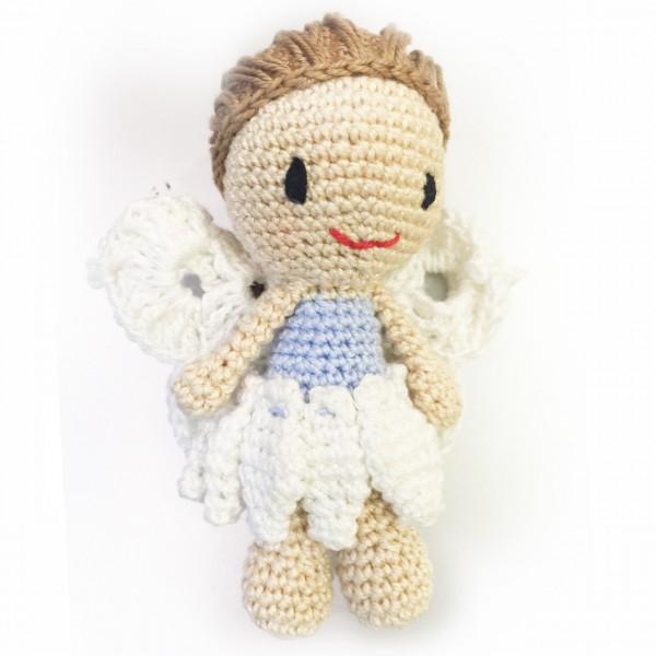 crochet angel - in blue