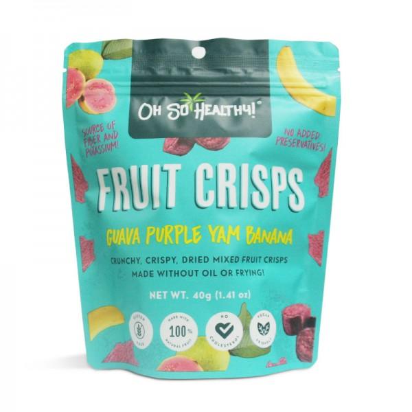 oh so healthy - fruit crisps - guava purple yam banana