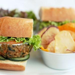 ECHOcafe Hot Sandwiches - Tofu Patty Sandwich