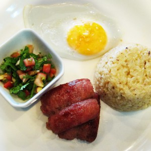 ECHOcafe Pinoy Breakfast - Chicken Longganisa