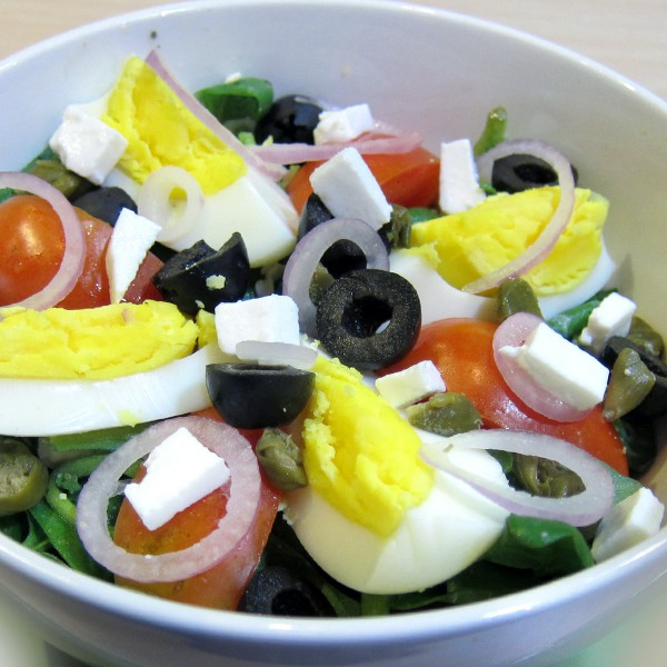 ECHOcafe Salad - Spinach with Feta Cheese