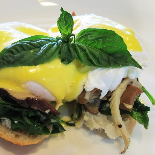ECHOstore Breakfast - Poached Organic Eggs With Sauteed Mushrooms